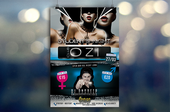 iCreate Web Design | Flyer & Poster Design | OZI Night Club | Student Nights