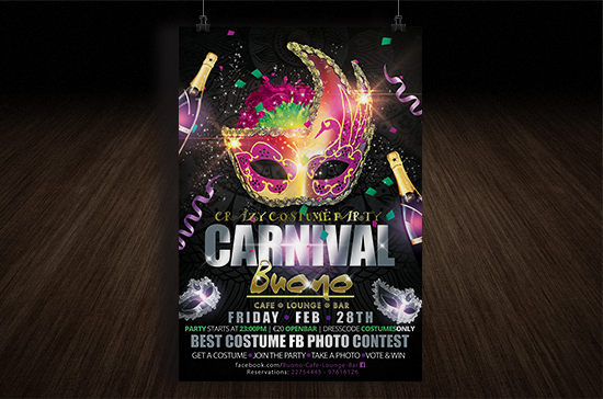 iCreate Web Design | Flyer & Poster Design | Buono Cafe Carnival Party