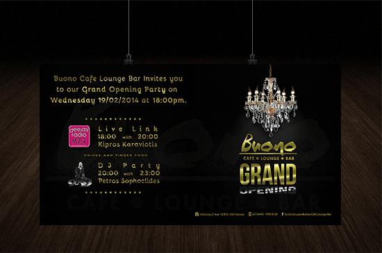 iCreate Web Design | Invitation Design | Buono Cafe