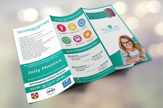 The Learnway Private Institute Trifold Brochure