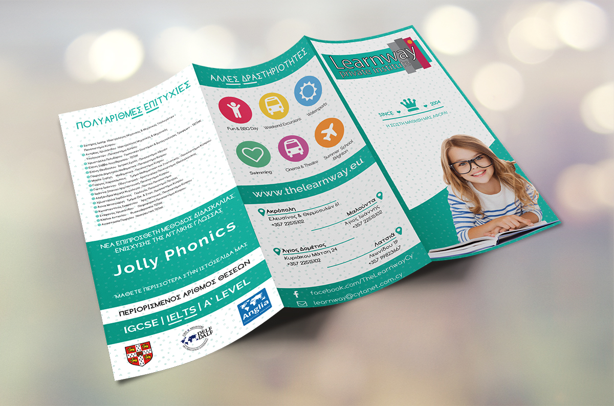 iCreate Web Design | Graphics | Trifold Brochure | The Learnway Private Institute