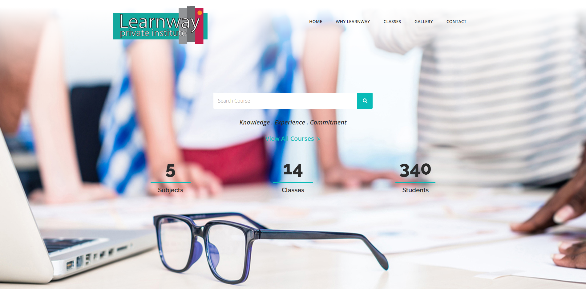 iCreate Web Design | Website Re-Design | Trifold Brochure | The Learnway Private Institute