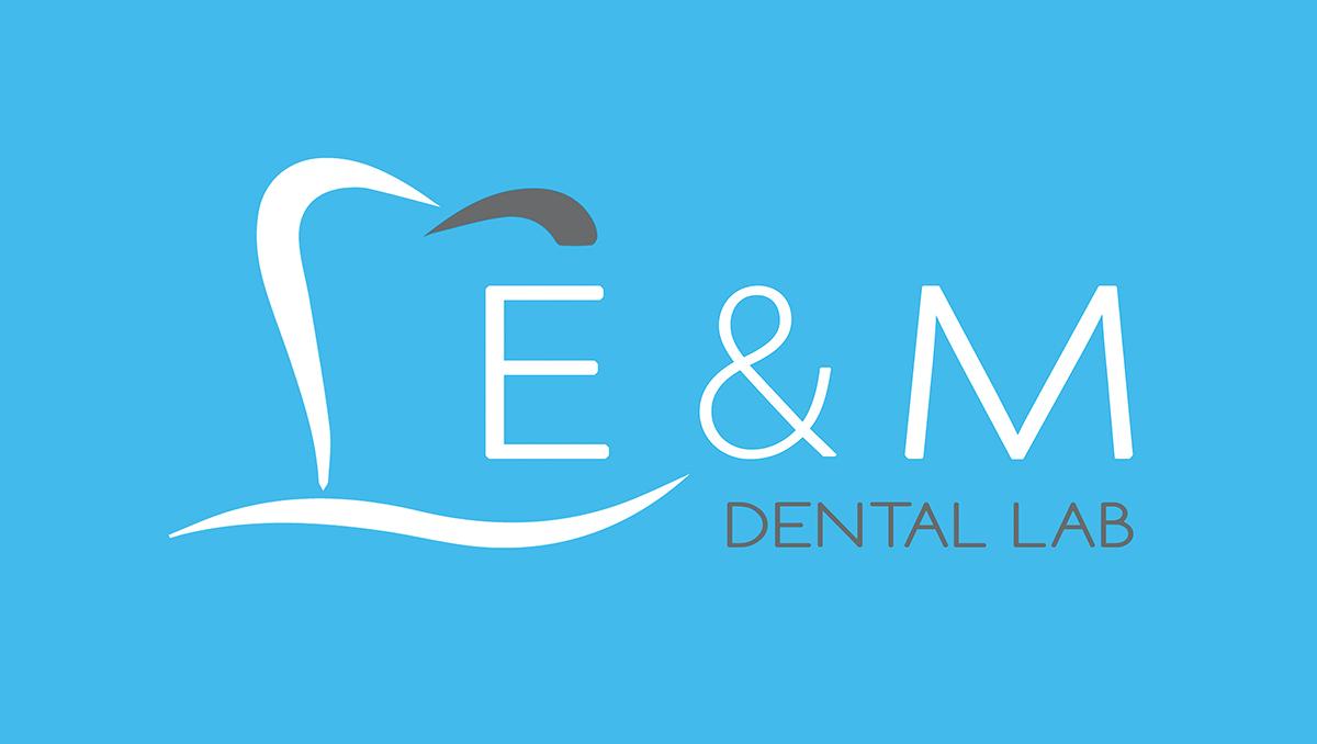 iCreate Web Design   Business Cards Design   E&M Dental Lab
