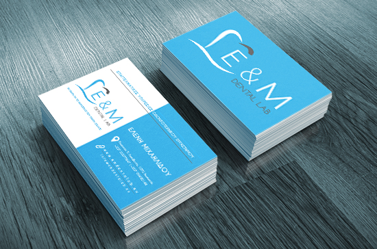 iCreate Web Design | Business Cards Design | E&M Dental Lab