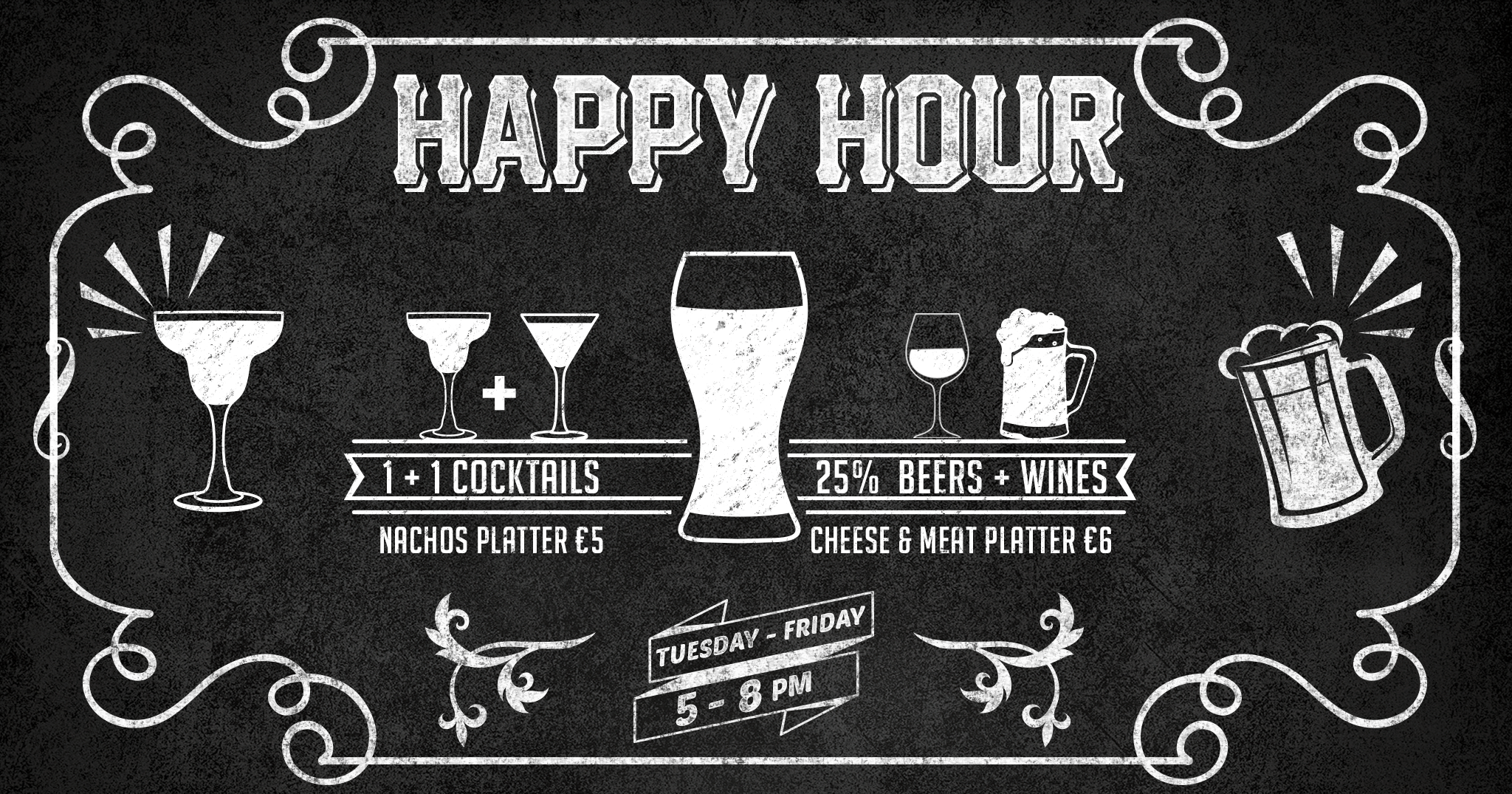 iCreate Web Design | Graphics | Flyer + Poster | Fubar Happy Hour