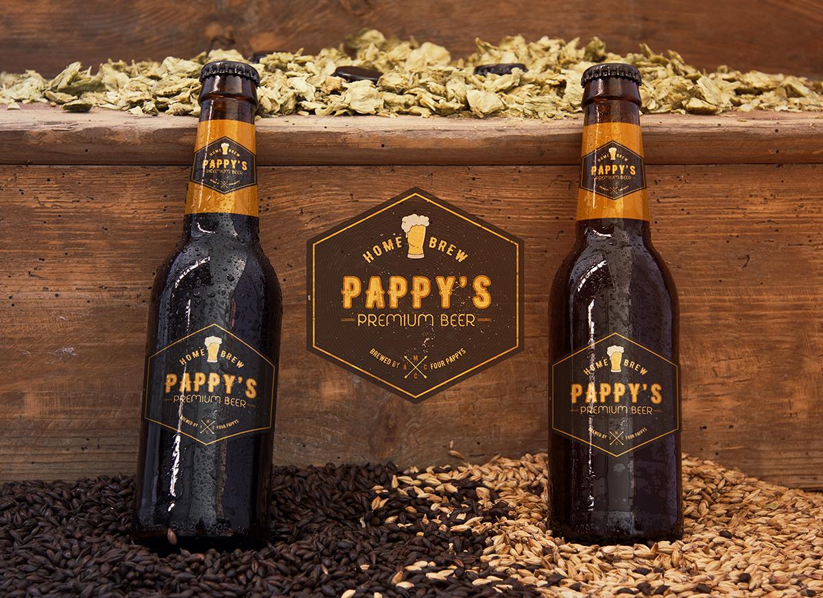 iCreate Web Design | Logo Design & Branding | Pappys Home Brewed Premium Beer