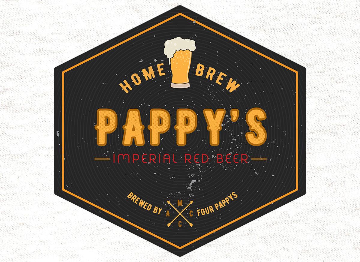 iCreate Web Design | Logo Design & Branding | Pappys Home Brewed Premium Beer Logo